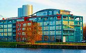 Residential apartment Office business at Daugava River in Riga reflex