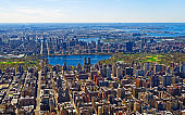 Aerial view on Manhattan nd Central Park reflex
