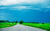 Road and Rural landscape Baltic reflex