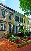 White buildings on the streets of Washington DC reflex