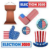 Symbols of USA Election 2020