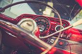 vintage car detail, cuba