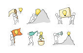 Cartoon lamp ideas with little people