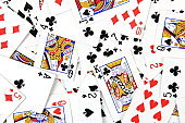 Playing cards background, gambling concepts