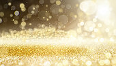 Sparkling lights, bokeh festive background with texture.