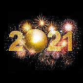Happy New Year Background. Start in 2021