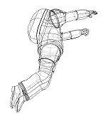 Astronaut concept. Vector rendering of 3d