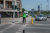 UberEATS cycle delivery courier in Warsaw