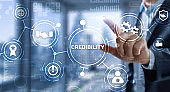 Credibility improvement. Modern business solution concept.