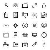 Office icon set.