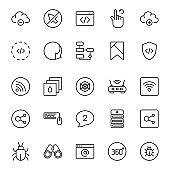 Web design icons set