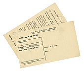 British Poll Card for 26th May 1955 - both sides