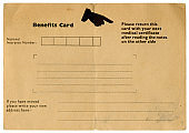 Old British benefits card