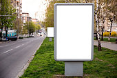 Blank citylight for advertising at the city around, copyspace for your text, image, design