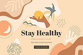 Stay Healthy Banner Template