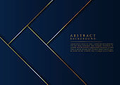 Abstract background luxury gold line metallic overlap layer design with space for text