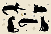 Black Cats Silhouettes