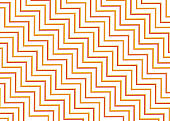 Zigzag line pattern modern design color yellow and orange style