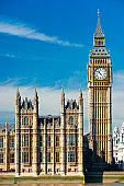 The Big Ben, the House of Parliament, London, UK