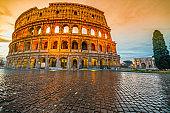 The Coliseum, Rome, Italy.