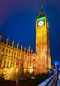 London, The Big Ben and Westminster bridge, United Kingdom