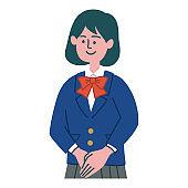 student girl gesture