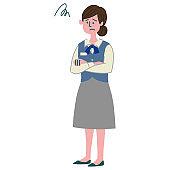 working woman gesture