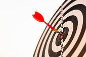 dart arrow hit center on Bullseye