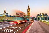 Traffic on Westminster Bridge. London, United Kingdom