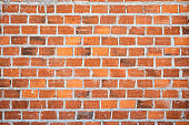 old vintage red brick wall texture background