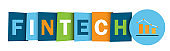 FINTECH colorful typography banner