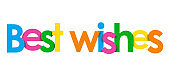 BEST WISHES colorful typography banner