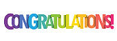 CONGRATULATIONS! colorful typography banner