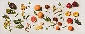 Variety of immunity boosting healthy plant foods