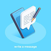 write a message icon