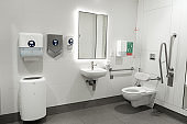 Restroom for people with disabilities in a modern country