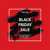 Black friday sale. Vector layout discount banner