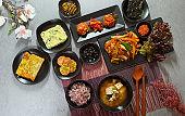 Korean homemade meal