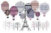 Paris and Air baloons