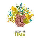 Summer zeit card design.