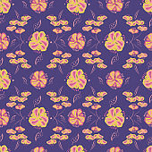 decorative floral ornament seamless vector pattern