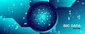 Big Data Fractal. Technology Network. Information