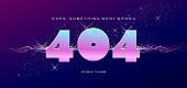 404 vector banner page template with banner error