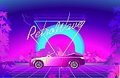 Futuristic horizontal banner virtual reality