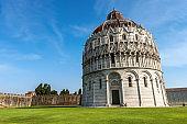 Pisa Baptistery in Piazza dei Miracoli - Tuscany Italy