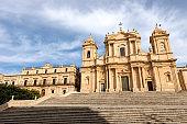 Cathedral of San Nicolò in Baroque style - Noto Sicily Italy