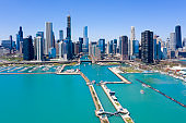 Aerial Skyline View of Chicago