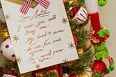 Santa Wish List with Corona Virus Covid-19 Wishes