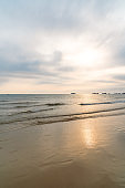 Sea and sand in Silver Beach, Beihai City, Guangxi Province, China
