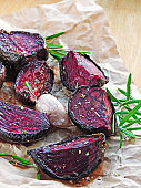 Beetroot baked with rosemary and spices.
